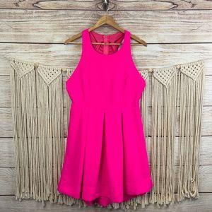 XL Lulus Exclusive Test Drive Neon Pink Dress